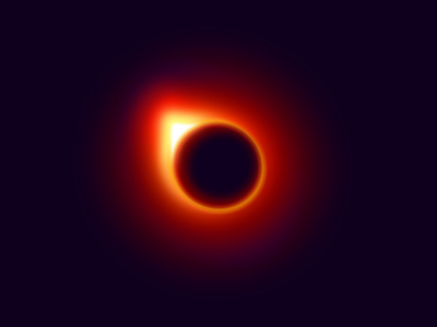 Supermassive Black Hole fire unknown after effect science cosmos sphere light iridescent figma dark black hole space motion animation animated inspiration bright illustration experiment zajno