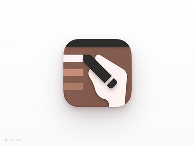 Wassi — App Icon ios application apple writing assistant ios app ios iconography app vector figma branding icon logo illustration graphics design