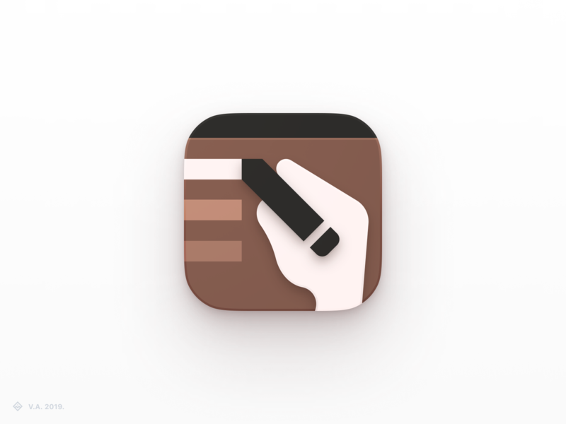 Wassi ⁠— App Icon ios application apple writing assistant ios app ios iconography app vector figma branding icon logo illustration graphics design