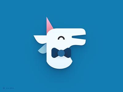 Unicorn Utterances — Logo blog unicorn dev website iconography vector figma branding icon logo illustration graphics design