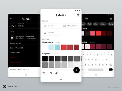 Palette App — Concept branding android app design android app ui design palette android figma vector graphics app ux ui design