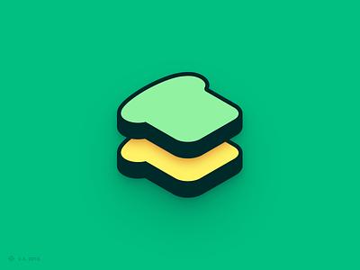 Bread n' Butter — Logo yellow green bread logo design iconography app vector figma icon branding logo illustration graphics design
