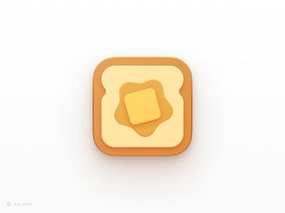 Bread n' Butter — Alternative Logo yellow bread brand logo design iconography app vector figma icon branding logo illustration graphics design