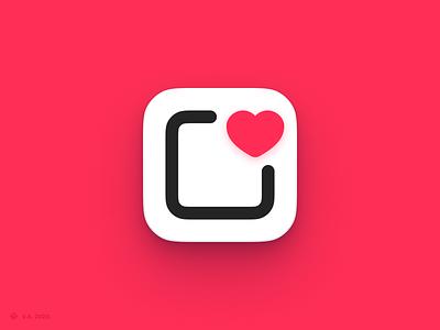 Apps Wishlist — App Icon pink wishlist ios icon ios app ios brand iconography app vector figma icon branding logo illustration graphics design