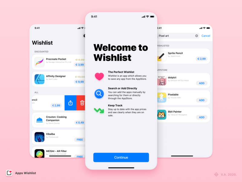 Apps Wishlist — App Design user inteface ios app design ios app brand app vector figma branding ux ui graphics design