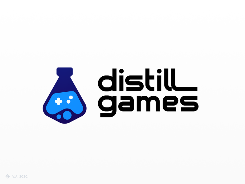 distill games — Logo gaming game company game company logo game logo game brand vector figma icon logo branding illustration graphics design