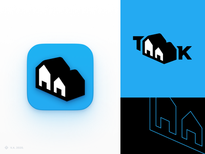 TAAK — App Icon and Logo android app android ios blue houses architecture building brand iconography app vector figma icon logo branding graphics design