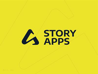 Story Apps figma logo branding design