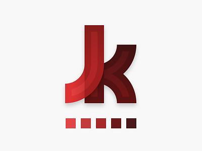 Jk Logo icon palette red graphics design logo