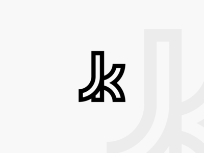 Jk Logo Outline glyph outline icon palette red graphics design logo