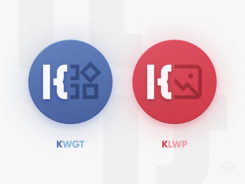 KWGT & KLWP kustom figma product icon iconography branding app icon logo illustration graphics design