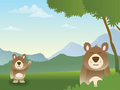 Bear character illustration illustration cartoon bear
