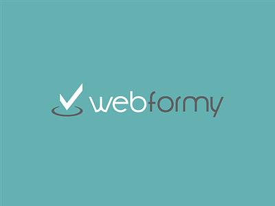 Webformy Logotype training digital brand logo webformy