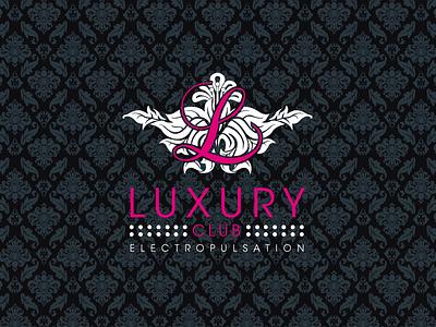Luxury Club Logotype music electronic clubbing logo