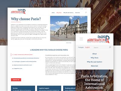 Paris Arbitration Responsive Website content architecture ux ui french international association responsive audacy website arbitration paris