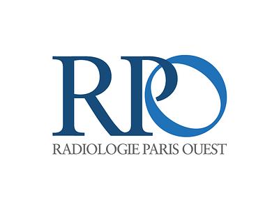 Radiologie Paris Ouest identity service medical paris radiology logotype