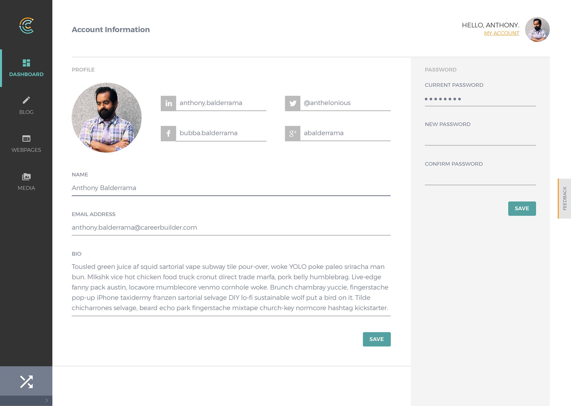 Cortex interface profile