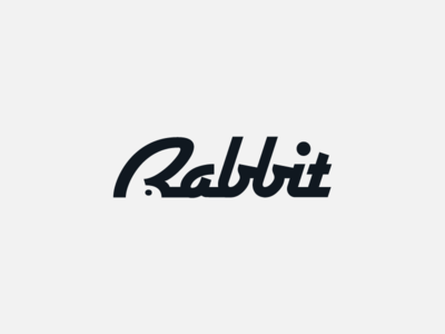 Rabbit negative space negative space logo creative  design fun with type funny logo creative logo designinspiration inspiration logo designer logo design animal logo semantic typography rabbit creative typography typography logo