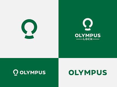 Olympus Lock - proposal redesign concept logo development wordmark mark minimalist logo negative space logo brand identity brand designer logo design concept logo designer logo design locks olympus brand design logotype typography branding icon logo