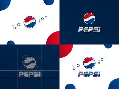 Pepsi - design grid brand designer redesign concept logo design concept logo designer wordmark mark custom type custom lettering design grid softdrink cola pepsico pepsi logo design brand design logotype typography branding icon logo