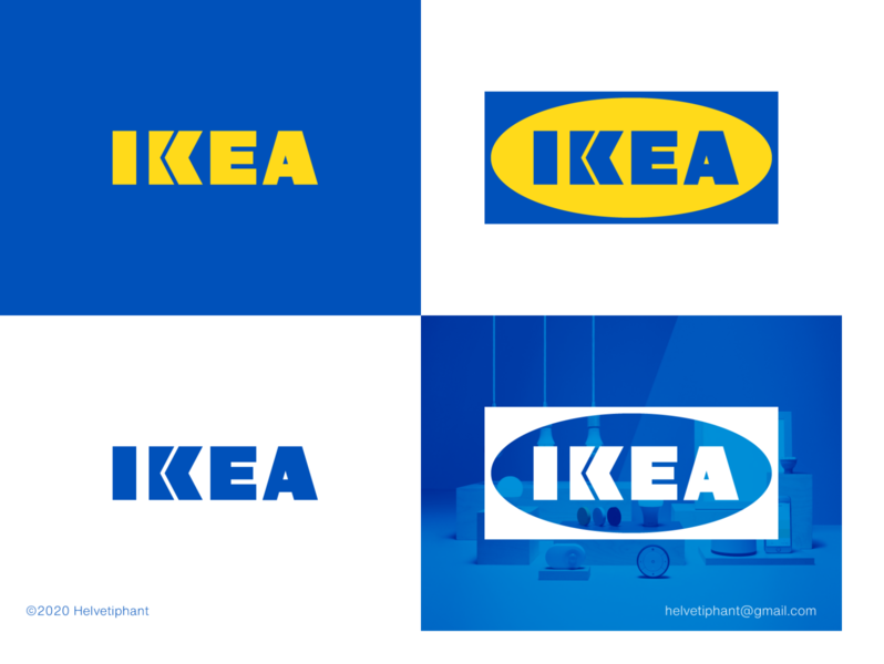 IKEA - redesgn proposal minimalist logo logo design concept logo designer rebranding brand designer furniture store arrow logo custom lettering custom type ikea shapes logo design brand design logotype typography branding icon logo