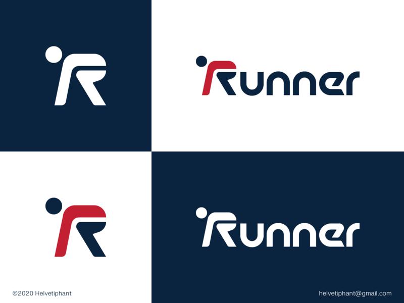 Runner - logo concept custom lettering custom type logo design concept r logo sports logo runner logo designer logo design brand design logotype typography branding icon logo