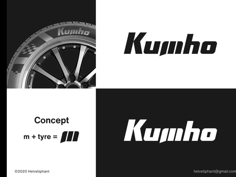 Kumho Tyre - proposal wordmark m logo hidden meaning custom lettering logo design concept manufacturer tyre kumho tyre logo designer logo design brand design logotype typography branding logo