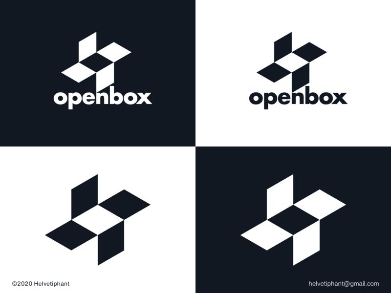 openbox - logo concept creative logo negative space logo modern logo minimalist logo brand designer logo design concept openbox logo box logo logo designer logo design brand design logotype typography branding icon logo