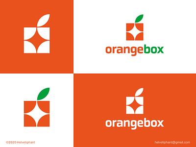 orangebox - concept creative logo brand designer minimalist logo box logo orangebox orange logo logo designer logo design concept shapes logo design brand design logotype typography branding icon logo