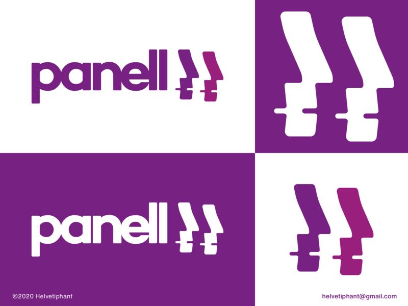 panell - proposal pattern wordmark logo brand designer panel app logo creative logo minimalist logo faces negative space logo shapes logo design concept logo designer logo design brand design logotype typography branding icon logo