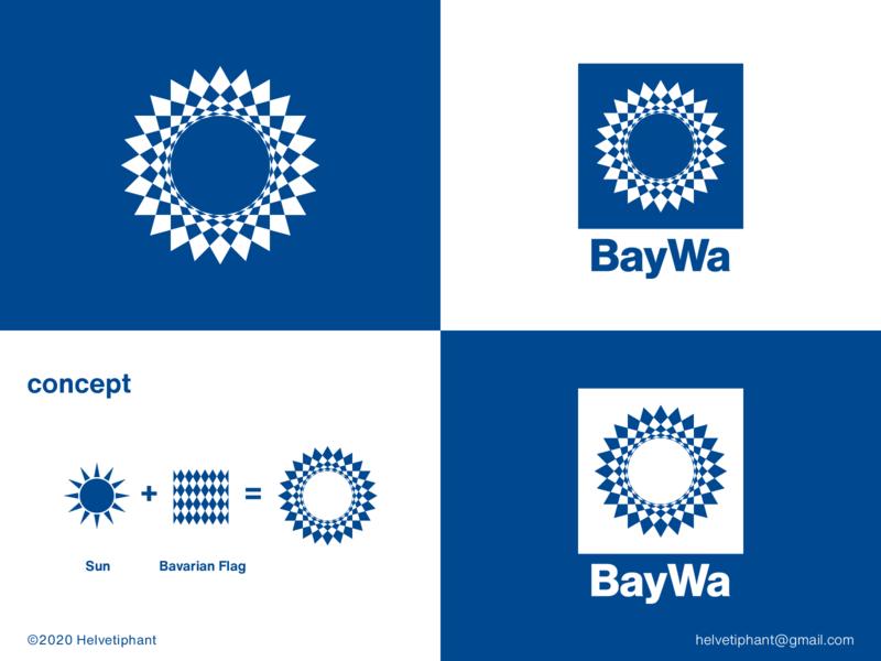 BayWa - proposal brand designer bavarian renewable energy solar energy sun logo creative logo logo design logo design concept logo designer shapes brand design logotype typography branding icon logo