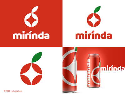 mirinda - proposal redesign concept pepsico creative logo minimalist logo can design mirinda soda can soft drink brand designer logo design concept logo designer logo design brand design logotype typography branding icon logo