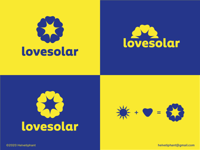 lovesolar - logo concept minimalist logo negative space logo solar panels renewable energy solar system creative logo design creative design heart logo sun logo solar energy shapes logo design concept logo designer logo design brand design logotype typography branding icon logo
