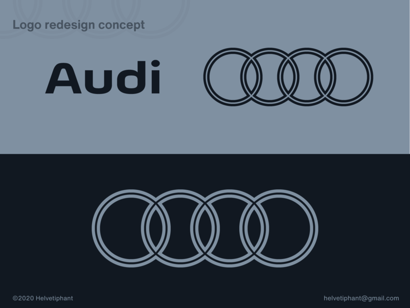Audi - redesign propoal design trend brand designer creative design geometric design minimalist logo redesign concept flat design automotive logo audi logo design concept logo designer logo design brand design logotype typography branding icon logo