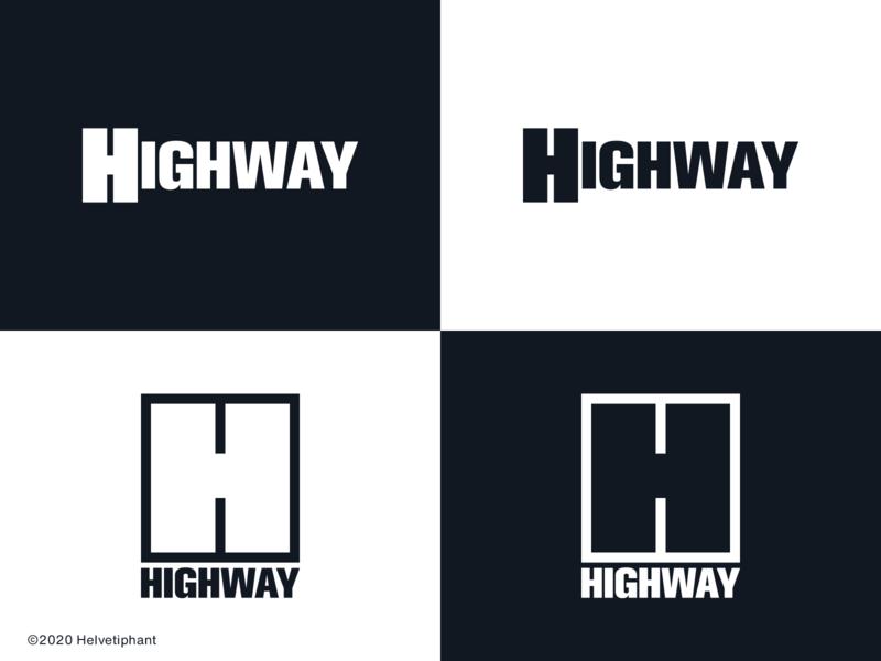 Highway - concepts h logo negative space logo semantic creative design creative logo design highway logo design concept logo designer logo design brand design logotype typography branding icon logo