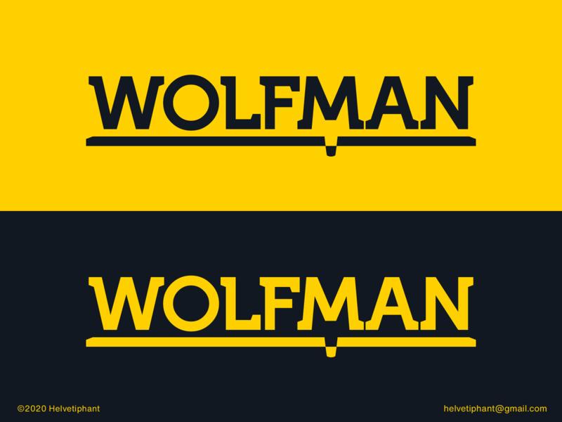 Wolfman custom lettering custom type designideas designinpiration creative design wolfman negative space logo wolf logo creative logo logo design concept logo designer logo design brand design logotype typography branding icon logo