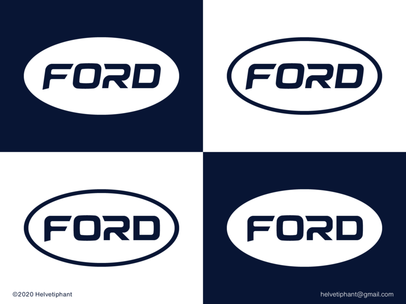 Ford - proposal modern logo redesign concept minimalist logo lettermark wordmark logo lettering custom type custom lettering automotive logo ford logo design concept logo designer logo design brand design logotype typography branding icon logo