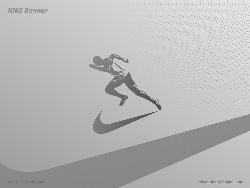 Nike Runner designinpiration product design design print poster advertising design idea creative design illustration sports design nike shoes nike nike running runner silhouette shapes vector graphic design icon logo