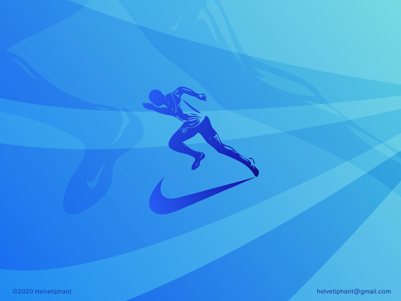 Nike Runner 2 graphic design designinpiration designthinking designinspiration creative design swoosh silhouette athletics running running man sportswear sports design nike shoes nike running nike