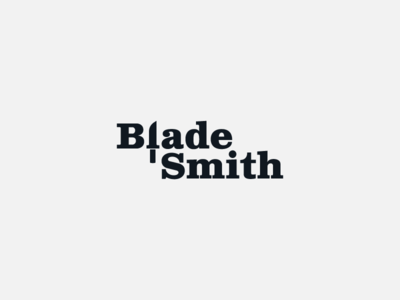 Blade Smith semantic typography custom logo design custom type blade smith smith creative design creative designer creative logo knife blades logo design concept logo designer logo design brand design logotype typography branding logo