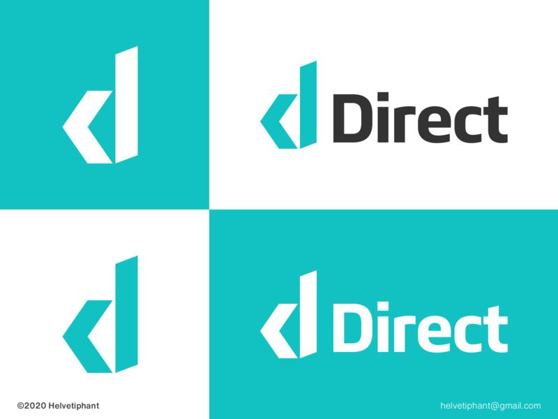 Direct - logo concept designinspiration designthinking direct modern logo minimalist logo creative logo arrow logo d letter logo brand designer logo design concept logo designer logo design brand design logotype typography branding icon logo