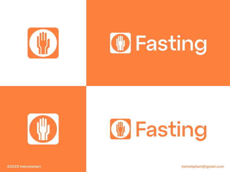 Fasting - logo concept diet app diet food hand logo fork logo double meaning custom logo design creative logo minimalist logo fasting logo design brand designer logo design concept logo designer brand design logotype typography branding icon logo