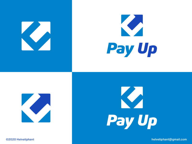PayUp - concept payment pay up up pay design concept logomark negative space logo arrow logo u logo brand designer logo design logo design concept logo designer brand design logotype typography branding icon logo