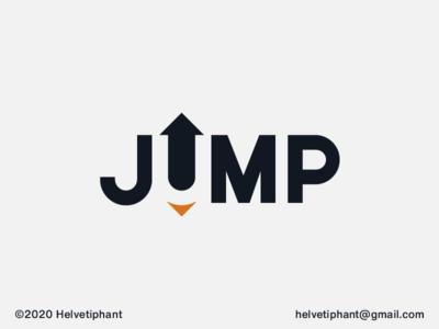 Jump designinspiration u logo negative space logo logo creator logomaker wordmark creative logo expressive typography arrow logo jump brand designer logo design concept logo design logo designer branding brand design logotype typography logo