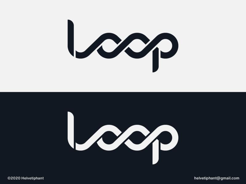 Loop - logo updated expressive typography custom logo design custom lettering creative logo custom logo wordmark loop brand designer logo design concept logo designer logo design brand design logotype typography branding logo