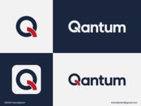 Quantum - logo concept wordmark geometric logo creative logo q letter logo q logo quantum brand designer logo designer logo design concept logo design brand design logotype typography branding icon logo