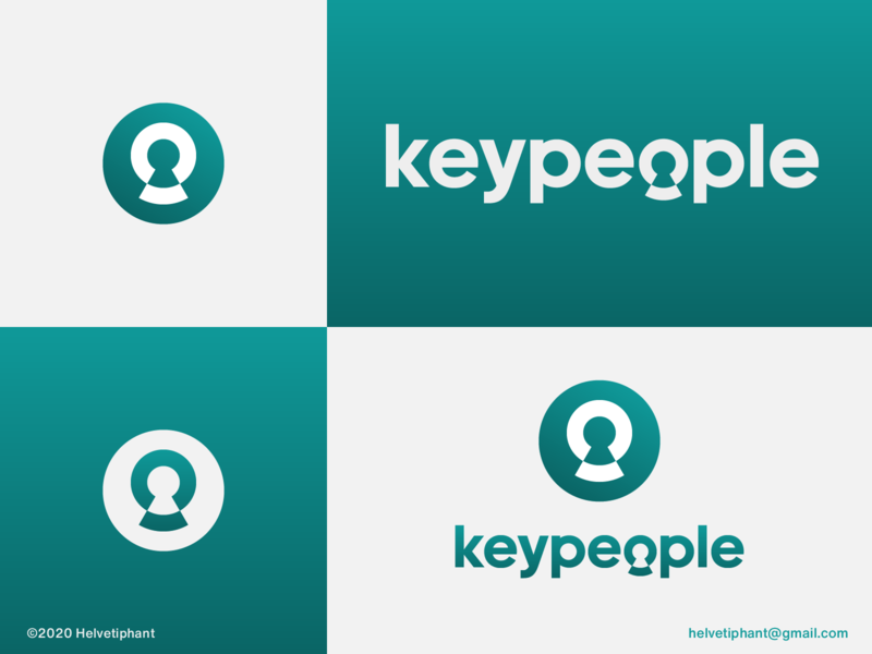 Keypeople - logo proposal logomark wordmark double meaning expressive typography recruiting staffing keyhole people logo creative logo negative space logo logo designer brand designer logo design concept logo design brand design logotype typography branding icon logo