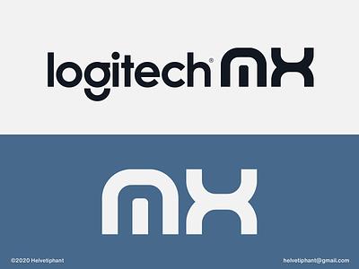 Logitech MX - logo concept logitech mx logitech custom lettering wordmark mx logo brand designer logo design concept logo designer logo design brand design logotype typography branding logo