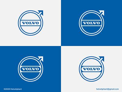 Volvo - flat logo proposal arrow logo geometric logo logo redesign iron symbol flat logo design logo rebrand logo refresh automotive logo volvo brand designer logo design concept logo designer logo design brand design logotype branding icon logo