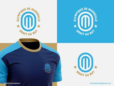 Olympique de Marseille - logo proposal sports branding sports logo football club football logo logomaker logomark mark brand designer logo design concept logo designer logo design brand design logotype typography branding icon logo